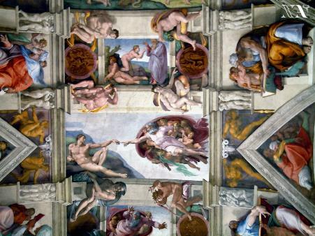 Genios de la Pintura, Escultura... Capillasixtina3
