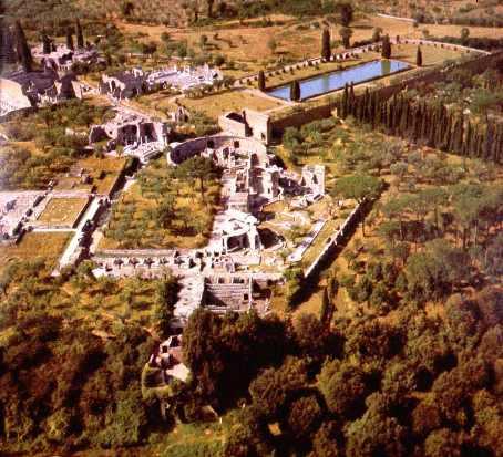 Villa Adriana, vista aerea
