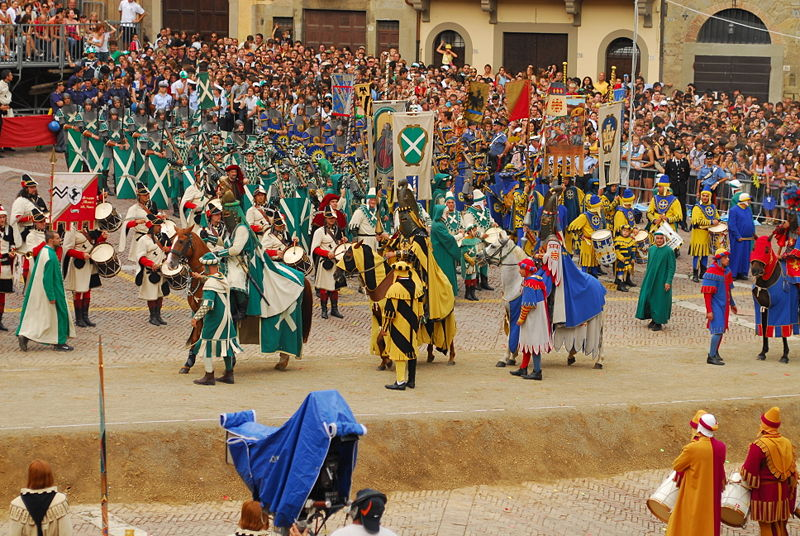 Arezzo, Toscana, Giostra del Saracino, justa medieval