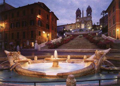 Fontana della Barcaccia, Plaza España, Roma