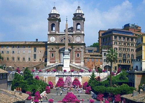 Plaza España, escalinatas, Roma