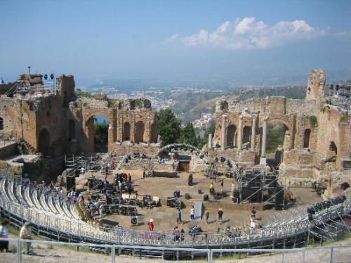 Teatro Griego de Taormina, Sicilia