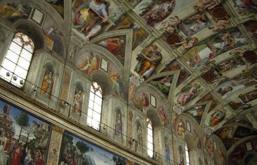 Frescos de la Capilla Sixtina, Miguel Ángel, Vaticano, Roma.