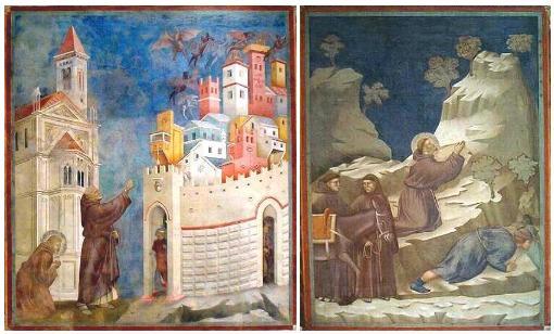 Frescos de Giotto en la Basilica de Asis