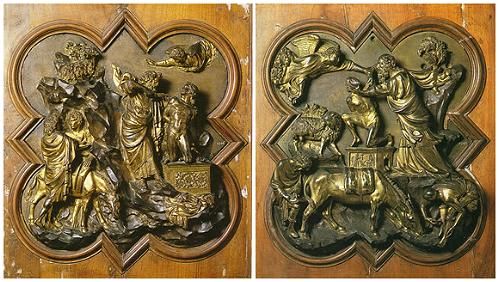 Detalle de la Puerta del Baptisterio de Florencia