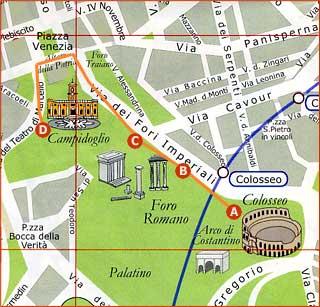 plano del Foro romano
