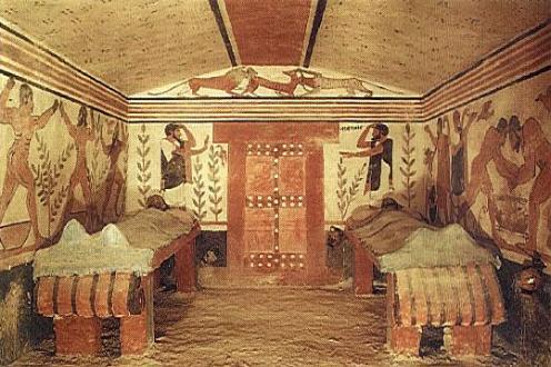 Tumbas etruscas en Tarquinia