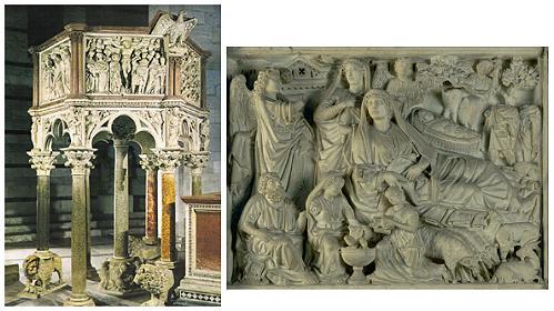 El Púlpito del Baptisterio de Pisa
