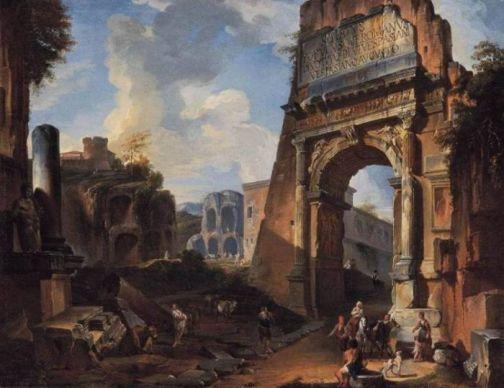Ilustración con Arco de Tito