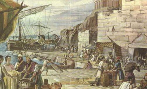 La llegada de los fenicios a Sicilia