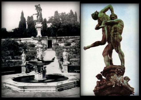 Hercules y Anteo, Gran fuente de la Villa de Castello