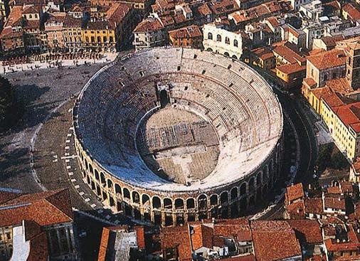 El anfiteatro Arena de Verona