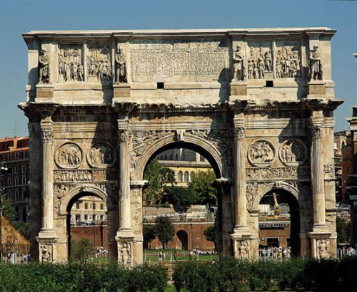 El Arco de Constantino, en Roma