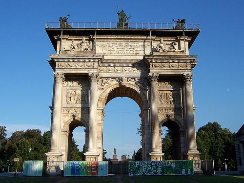 El arco de la Paz en Milán