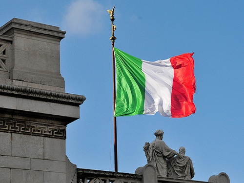 Bandera de Italia, historia y significado