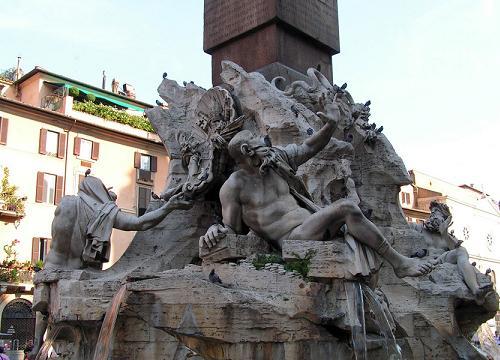 La Fuente de los Cuatro Rios en Roma