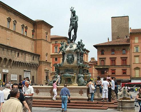 Fuente de Neptuno en Bolonia