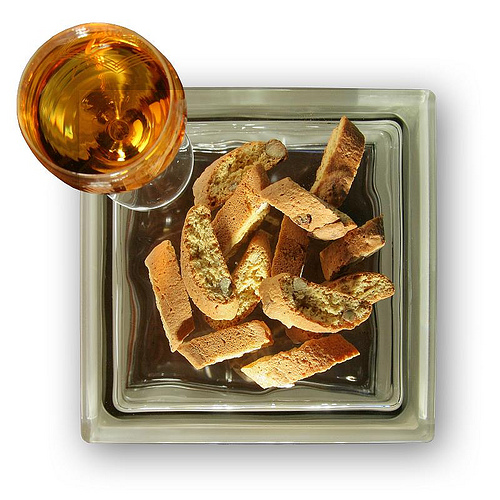 galletas cantucci y vin santo