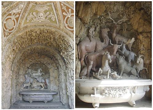 La Gruta de los Animales en la Villa Castello