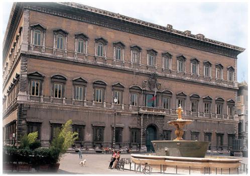 El Palacio Farnese, en Roma
