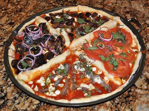 Pizza cuatro estaciones, un clásico en Italia