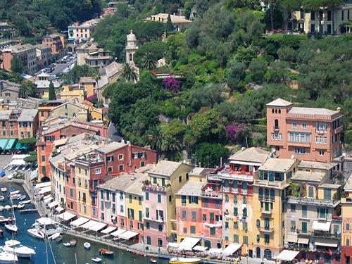 Lugares tipicos de Portofino, en Génova