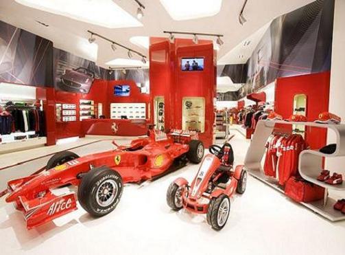 Las Tiendas de Ferrari en Italia