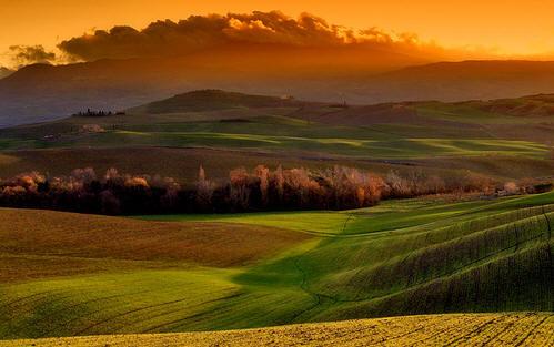 Orcia, un hermoso y amplio valle en Toscana